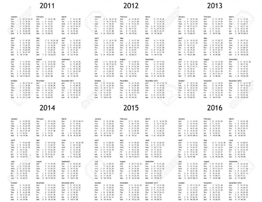 multi year calendar 2011 2012 2013 2014 2015 2016 10 year calander