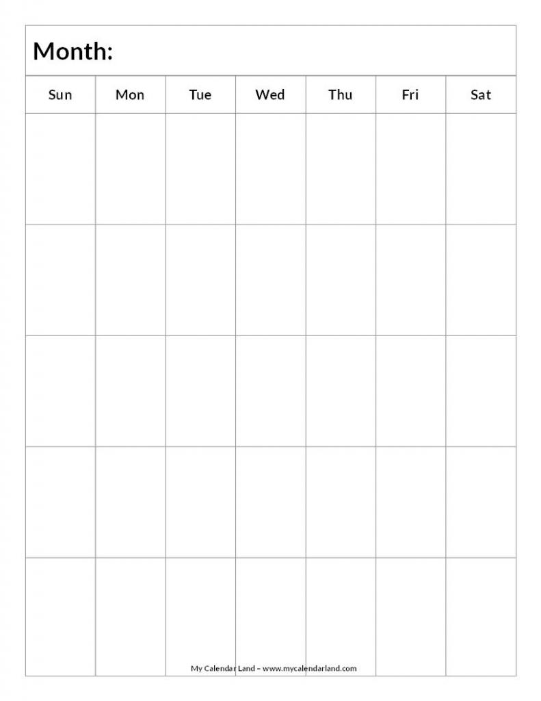 mycalendarland calendar images blank blank calendar 5 six week calendar template