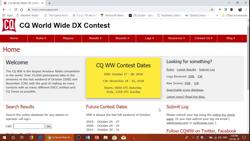 october 27th and 28th 2018 cq ssb world wide dx amateur radio contest october 2020 amateur radio contests