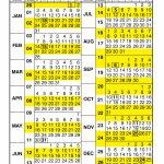 Pay Period Calendar 2021 Calendar Year Free Printable 2020 Pay Period Calendar