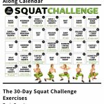 Pin Julia Parker On Workouts Squat Challenge 30 Day The 30 Day Squat Challenge Follow Along Calendar