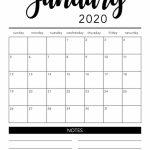 Printable 2020 Calendar Month Monthly Calendar 2020 Printable Calendar By Month