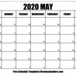Printable May 2020 Calendar May 2020 Calendar Printable Sunrise Sunset
