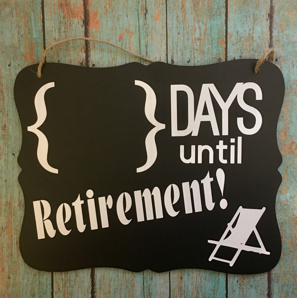 retirement countdown chalkboard sign with images retirement countdown picture