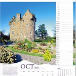 Scenic Tour Of Scotland Calendar 2021 Rose Calendars Scots October Lawn Schedule