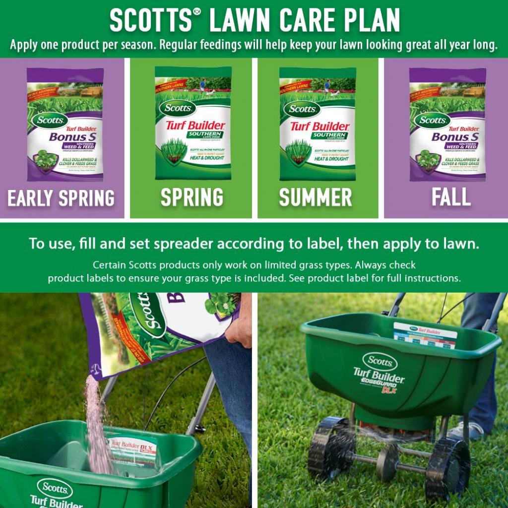 scotts 10000 sq ft southern lawn fertilizer program for centipede st augustine and zoysia grass 4 bag scotts lawn maintenance schedule