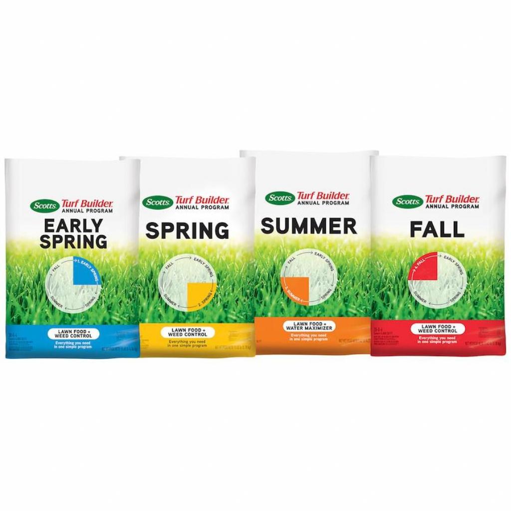 scotts turf builder annual program 942 lb 4000 sq ft lawn food scotts fertilizer schedule