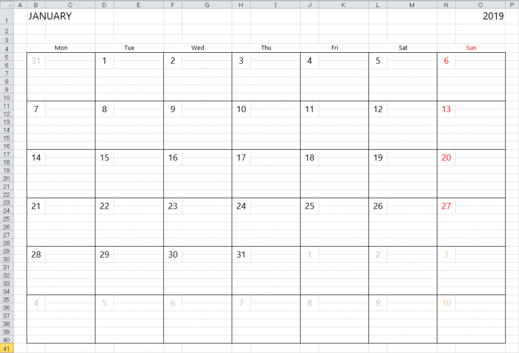 simple excel calendar template calendar template with lines on it