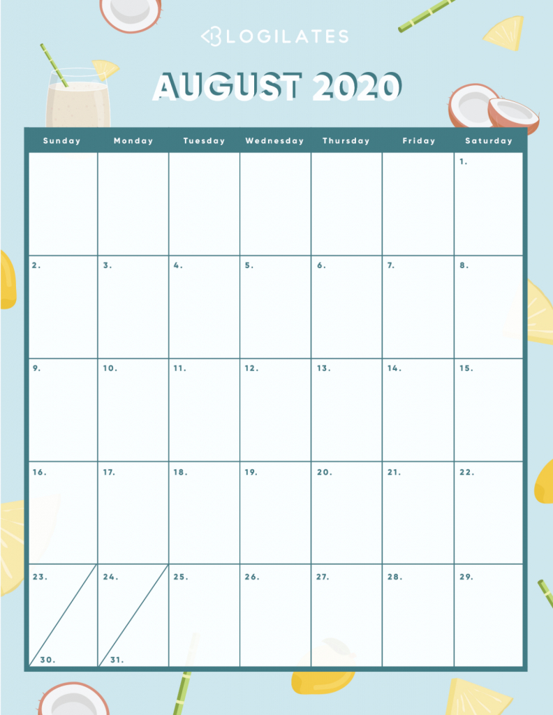 the cutest 2020 printable calendars free blogilates blogilates august 2020 challenge 1