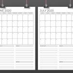 Vertical 11 X 17 Inch 2020 Calendar Template 11 X 17 Printable Calendar