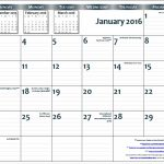 2016 1117 Free Printable Page Per Month Wall Calendar With 6 Month Calendar 11×17