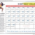 30 Day Squat Challenge Calendar Click Here To Download The 30 Squat Challenge Calendar