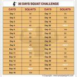 30 Day Squat Challenge Printable Calendar Squat Workout At 30 Squat Challenge Calendar