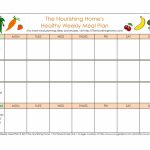 40 Weekly Meal Planning Templates Templatelab Meal Planning Template 1