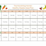 40 Weekly Meal Planning Templates Templatelab Meal Planning Template