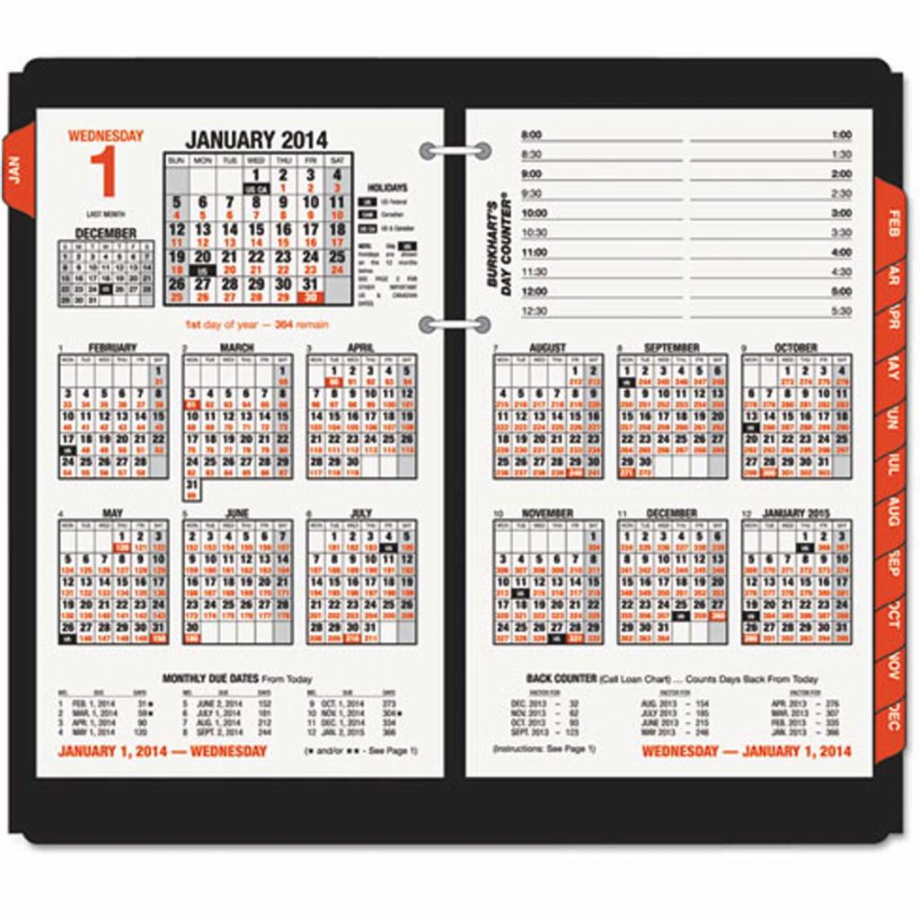 at a glance burkharts day counter desk calendar refill 4 12 x 7 38 white 2020 calendar with day counter