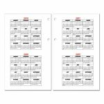 Burkharts Day Counter Desk Calendar Refill 4 12 X 7 38 White 2020 Day Counter For Calendar
