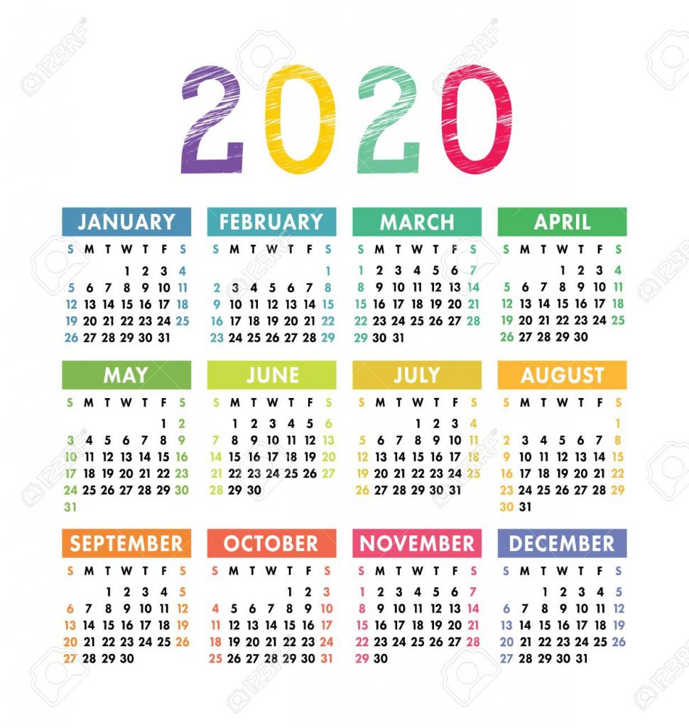 calendar 2020 year vector pocket or wall calender template year 5000 calendar