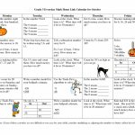Calendar Math For Third Grade Grade 3 Everyday Math Home Every Day Counts Math Program 3rd Grade