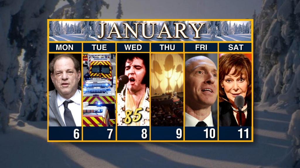 Calendar Week Of January 6 Cbs Weekly Calendar