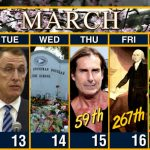 Calendar Week Of March 12 Cbs Weekly Calendar