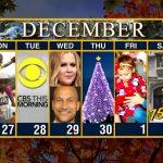 Calendar Week Of November 27 Cbs Weekly Calendar