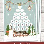 Countdown To Christmas Printable Christmas Countdown Holiday Countdown Template Printable