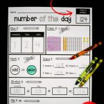 Editable Number Of The Day Sheet 3rd Grade Math 2nd Grade Every Day Counts Math Program 3rd Grade