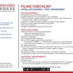 First Department 2020 Calendar Record Press Appeals Calendar 2nd Department 1