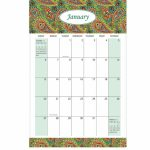 Free Design Amazon Popular Custom 11×17 2019 Large Monthly 6 Month Calendar 11×17