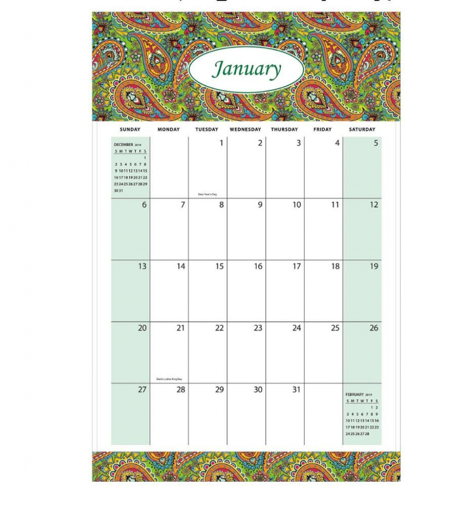 free design amazon popular custom 11x17 2019 large monthly 6 month calendar 11x17