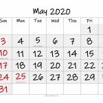 Free Printable May 2020 Calendar Pdf Template Noif20fm53 Six Week Calendar Printable Pdf No Weekend