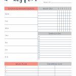 Free Printable Weekly Planner Making Lemonade One Week Planner Printable