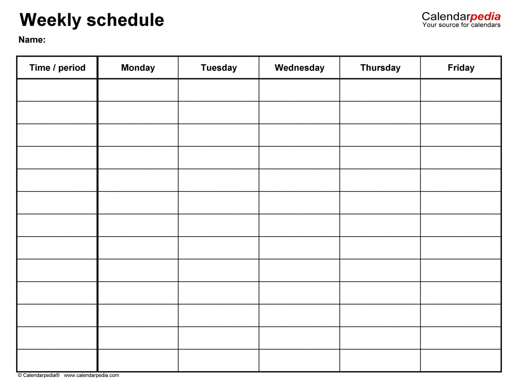 free weekly schedule templates for excel 18 templates 6 week calendar generator 1