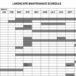 Garden Maintenance Plan Template Of Landscape Maintenance Lawn Care Schedule Spreadsheet