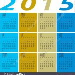 Illustration Of Year 2015 Colorful Calendar Year 5000 Calendar