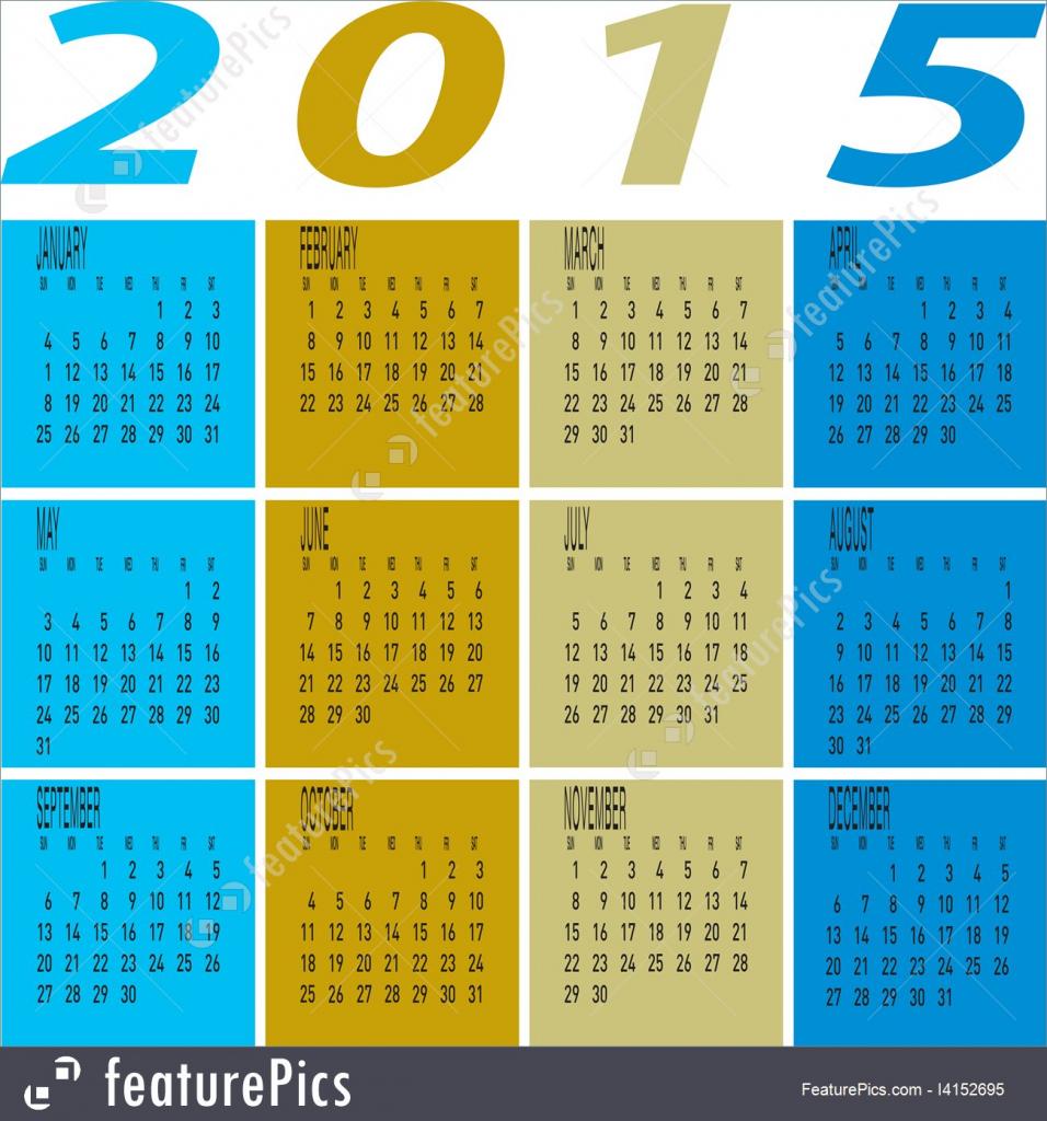illustration of year 2015 colorful calendar year 5000 calendar