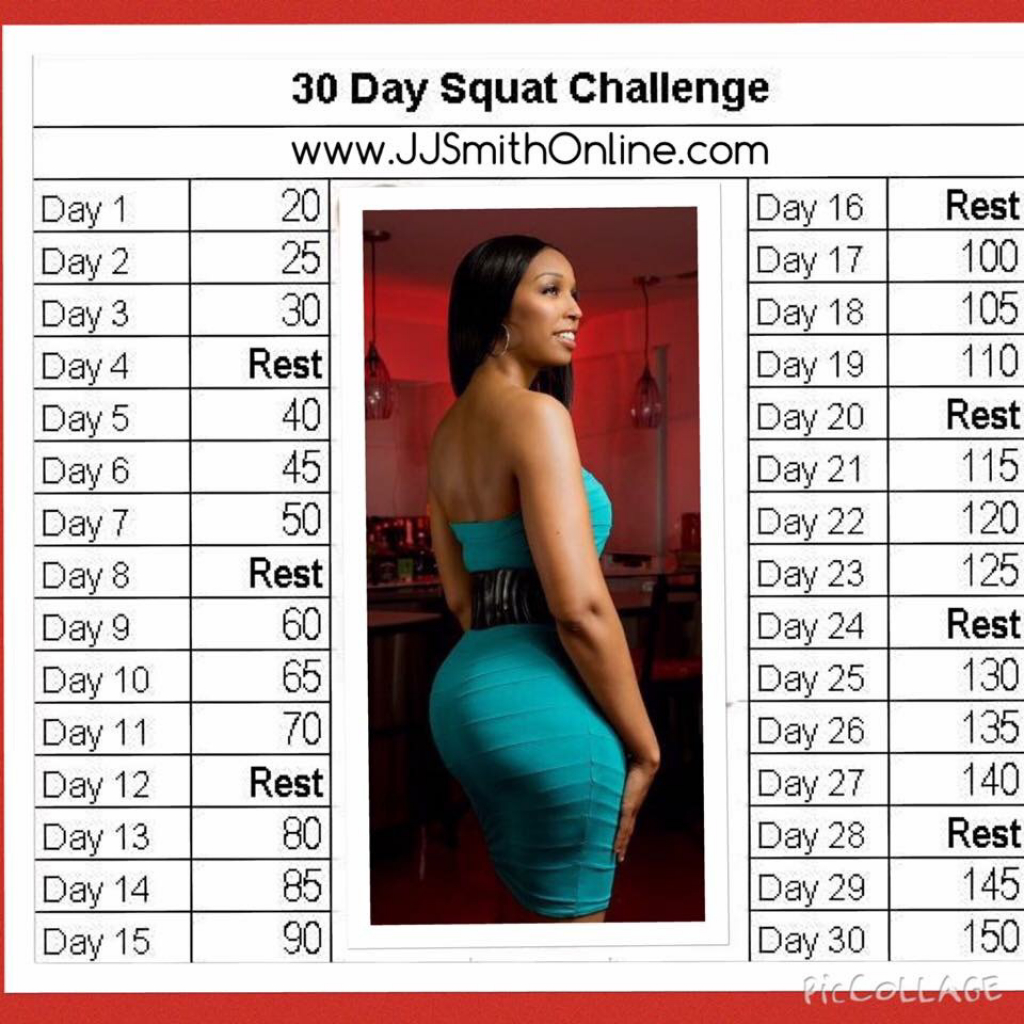 jj smith on twitter last month we had 300000 folks do the jjsmithonline 30 day squat challenge