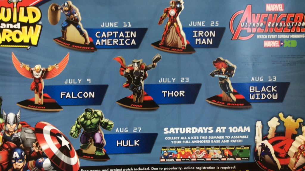 lowes build and grow build captain america ship saves lowes build and grow 2020 schedule