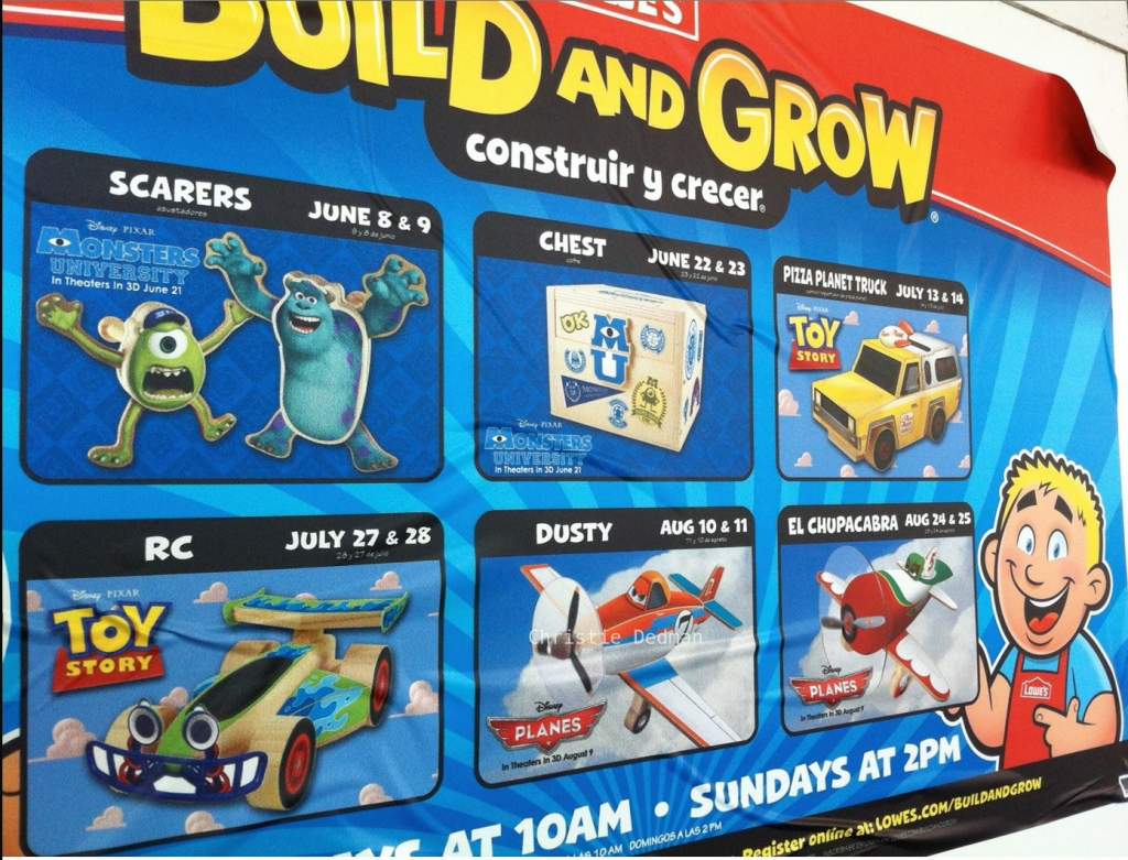 lowes build grow summer schedule disneys toy story lowes build and grow 2020 schedule