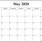 May 2020 Monday Calendar Monday To Sunday Blank Calendar Starting With Monday The 1