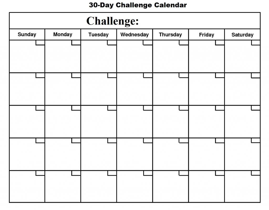 Printable 30 Day Calendar Printable 360 Degree Free Printable 30 Day Plan Calander