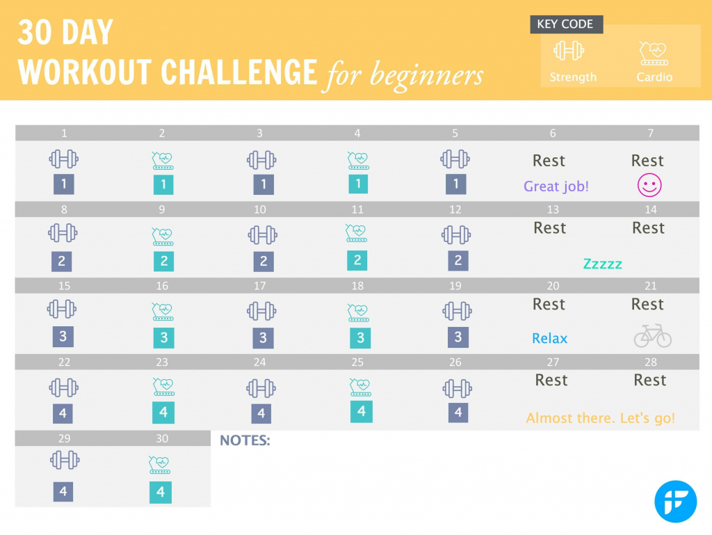 Printable 30 Day Workout Calendar Fitwirr Printable 30 Day Plan Calander