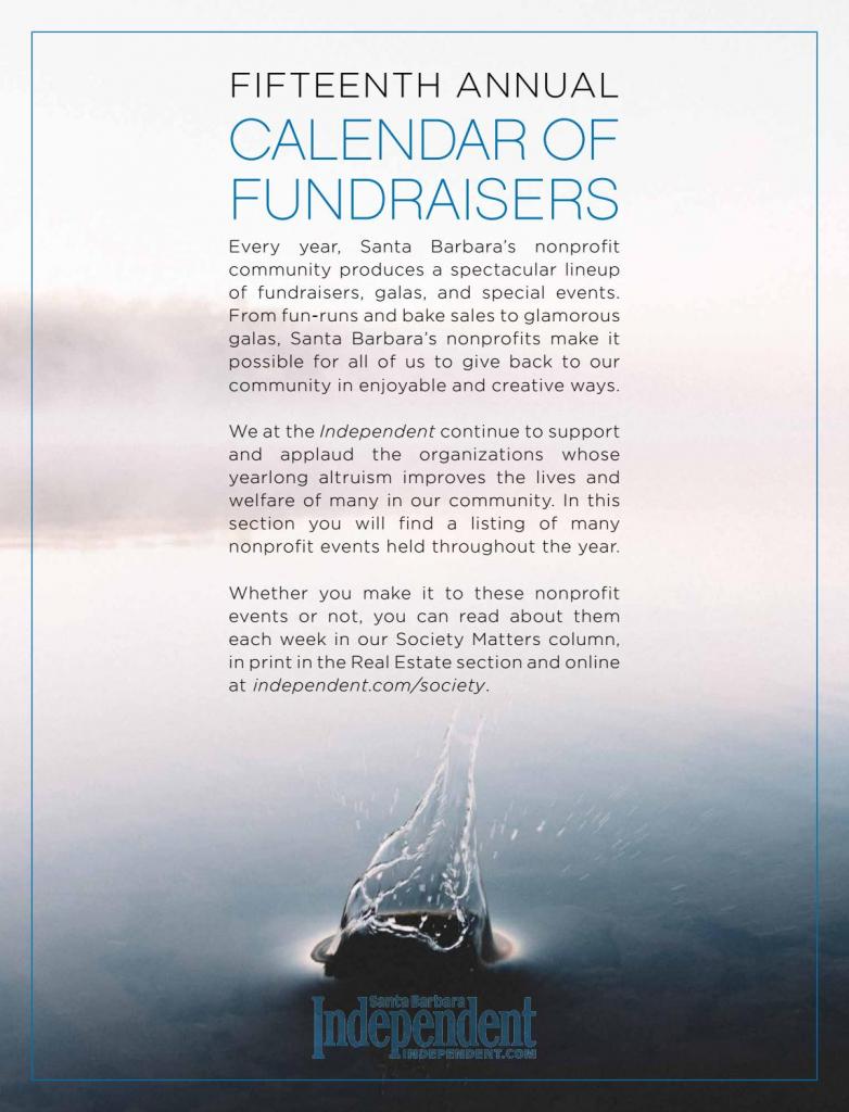 santa barbara independent calendar of fundraisers 2018 sb soho sb calendar