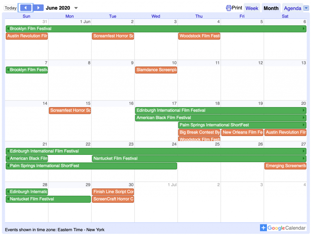 screenwriting calendar the best events and contests in 2020 contest calendar