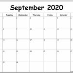 September 2020 Monday Calendar Monday To Sunday Calendar Starting With Monday
