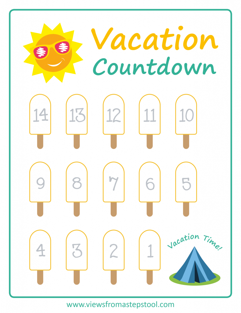 summer vacation countdown printables vacation countdown vacation countdown calendar printable