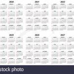 Ten Years Simple Editable Vector Calendars For Year 2019 10 Years Calener