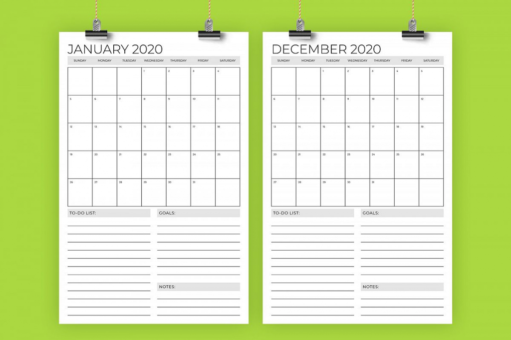 vertical 11 x 17 inch 2020 calendar template 11 x 17 printable calendar 2020