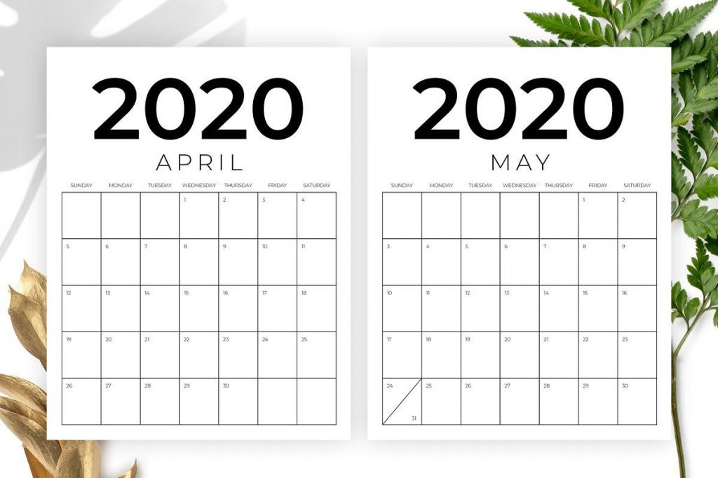 vertical 85 x 11 inch 2020 calendar 8 5 x 11 calendar template 1